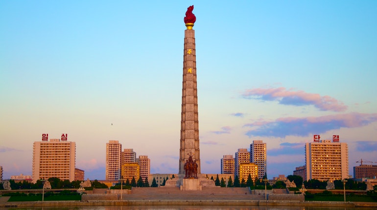 Tower Of The Juche Idea In Pyongyang North Korea Lonely