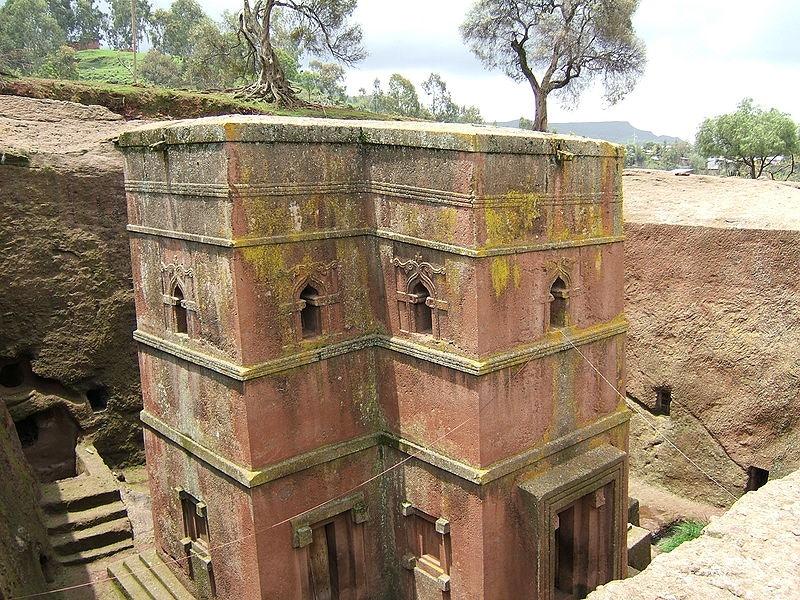 Astonishing rock-hewn church, Lalibela, Ethiopia