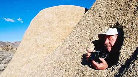 Photographer in Alabama Hills Recreation Area, California