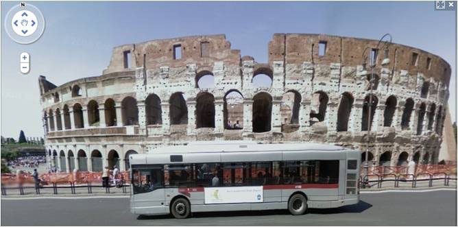 Rome's Colosseum on Street View
