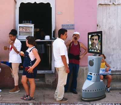 Robot Reid chats with locals in Cuba, cleverly circumventing American travel restrictions