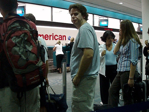 Frustrating airport line