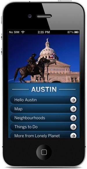 Lonely Planet Austin City Guide app