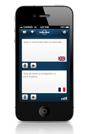 Lonely Planet Offline Translator app
