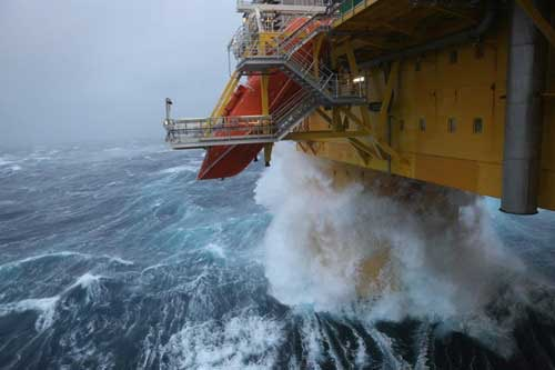 Gas Platform in Northern Sea