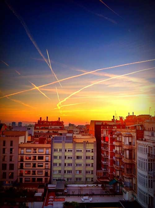 Skyline over Barcelona