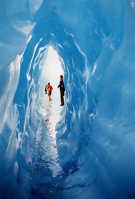 New Zealand. Tunnel. Fox Glacier.
