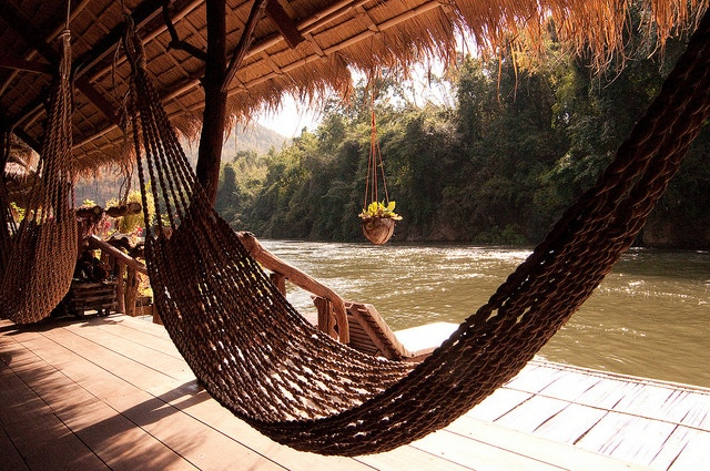 Thailand. Hammock. River. Jungle.