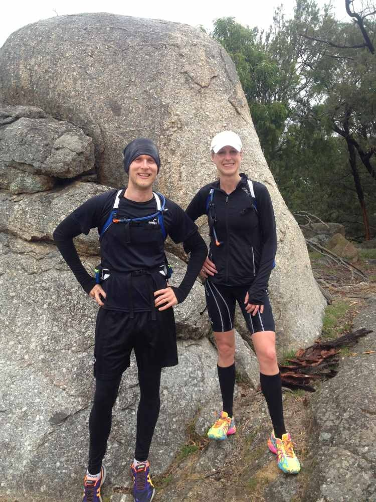 Georgie and David training in You Yangs National Park, Victoria.