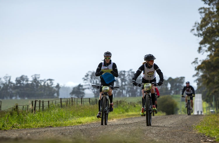 Pedal power in Mole Creek. Image c/o Perfect Prints.