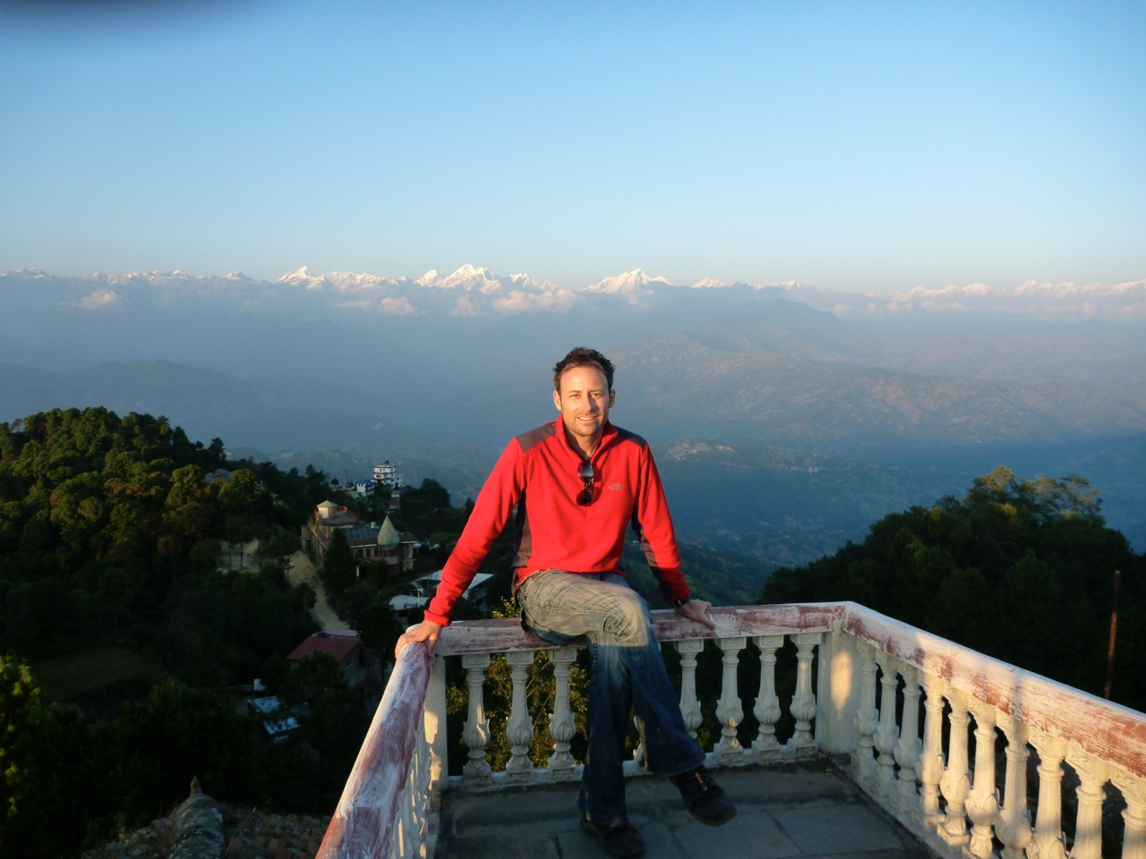View of the Himalayas from Nargakot, Nepal. Image courtesy of Kevin Raub