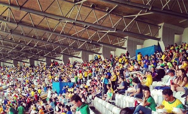 Football crowd. Brazil.