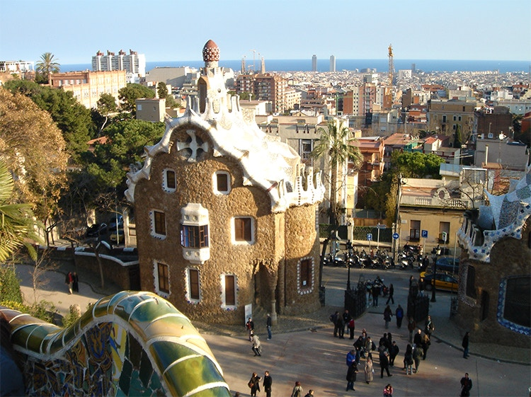 The surreal colours and shapes of Gaudi's creations in Barcelona, Spain - a highlight for this travelling journalist. Image courtesy of Phil Weller