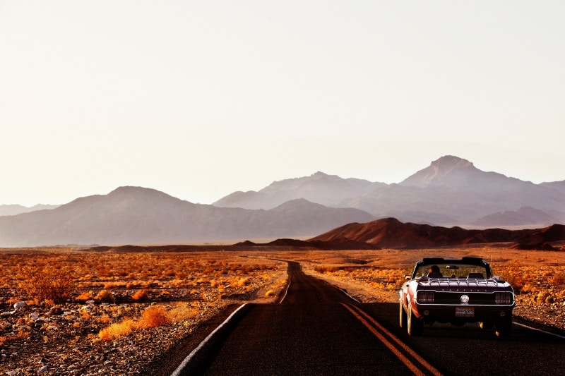 Ford Mustang in Death Valley National Park. Image by Mark Read / Lonely Planet Traveller