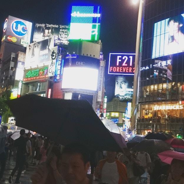 Shibuya Crossing in the Rain