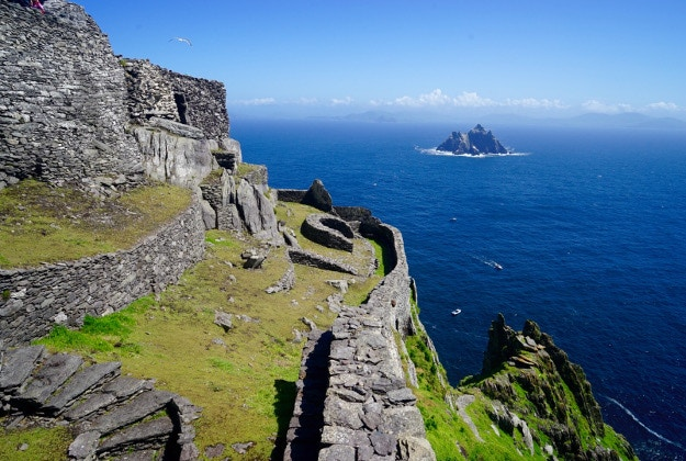 The view from Skellig Michael, a monastery built on a remote island in the Atlantic. Image courtesy of James Kay