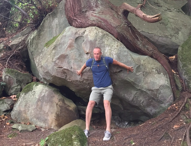 Matt doing his best Atlas impersonation on Gabriola Island. Image courtesy of Matt Phillips