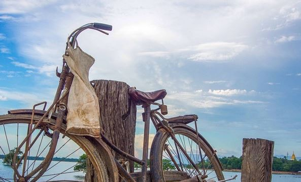 Fisherman's bike, Myanmar