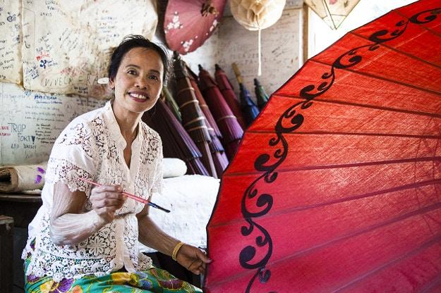 Umbrella-maker, Pindaya, Myanmar