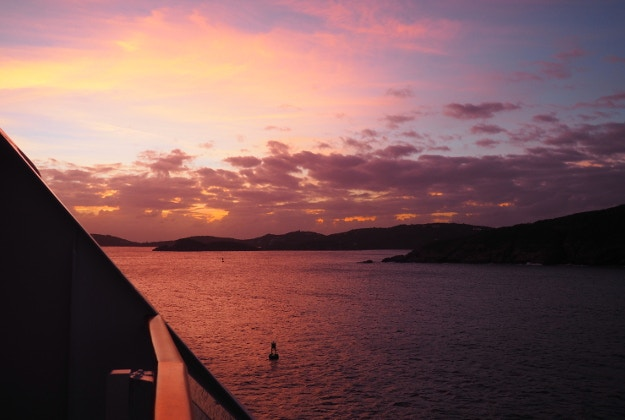 A magical sunset in St. Thomas from Sarah's balcony © Sarah Reid
