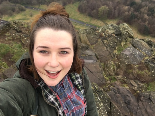 Happy as Larry to have made it up Salisbury Crag © Louise Bastock