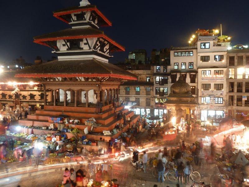 Durbar square night