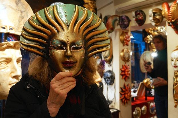 Mum in mask
