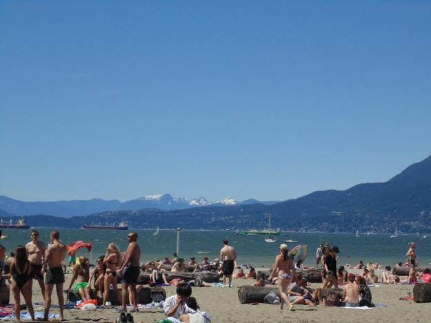 beach plus snowy mountains