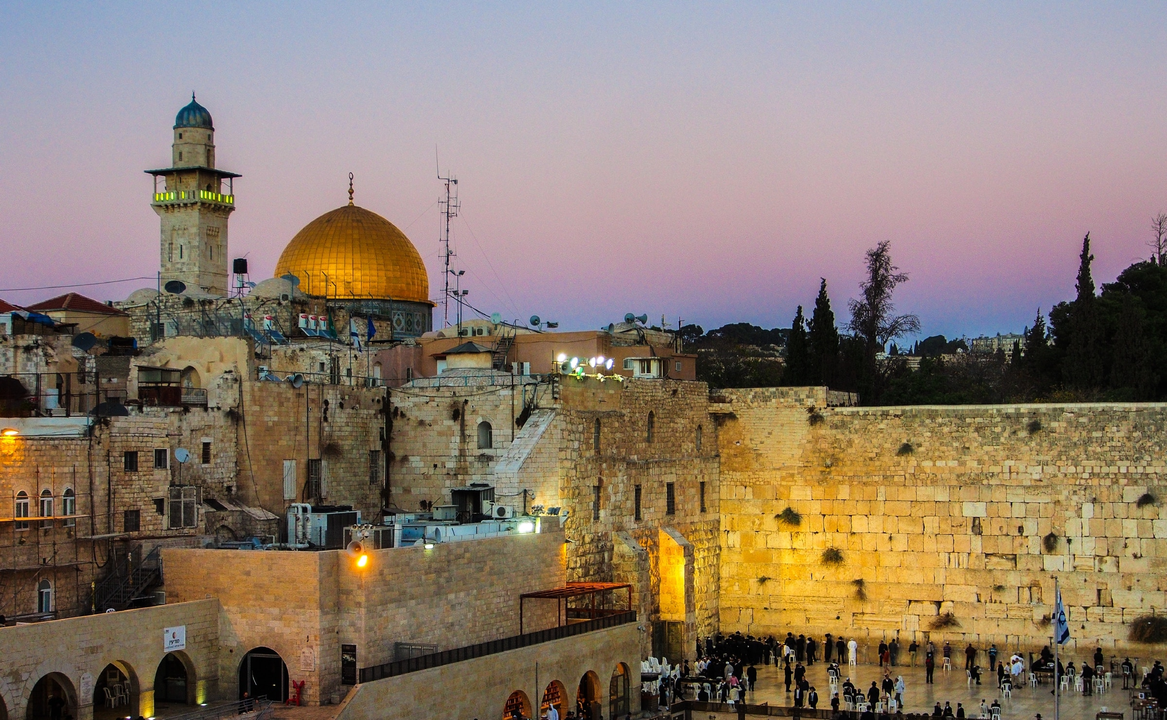 Dome of the Rock and the Wailing Wall