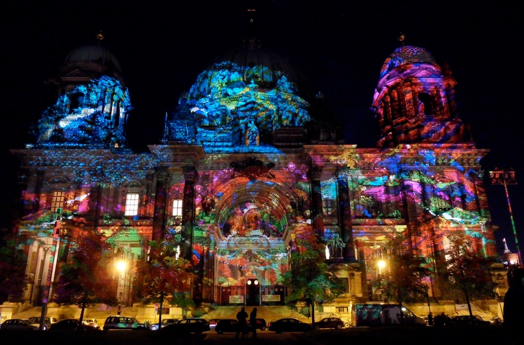 Illuminated Berliner Dom - Sayarma