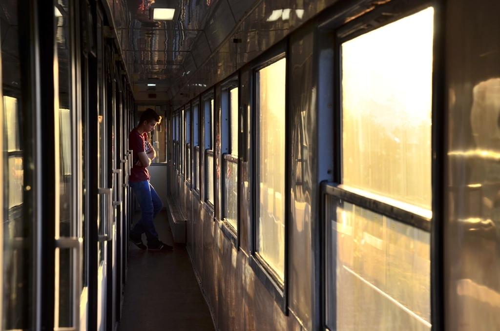man in misty train - Bartek Baracz