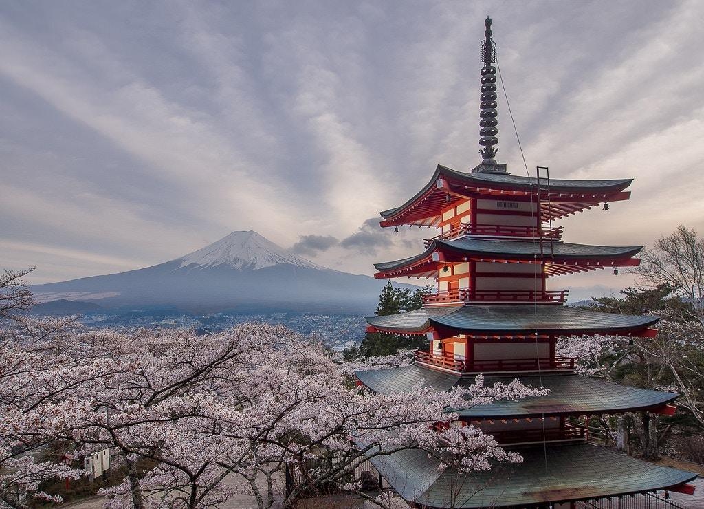 Chureito Pagoda - v-_-v
