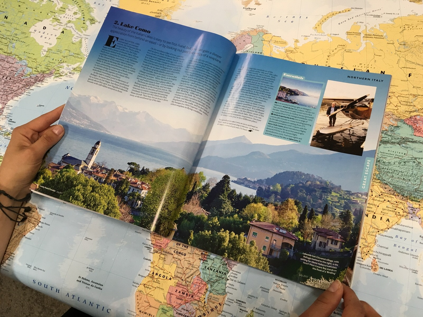 Lonely Planet Traveller Magazine - Intern Gemma flicks through the new issue for an Instagram preview