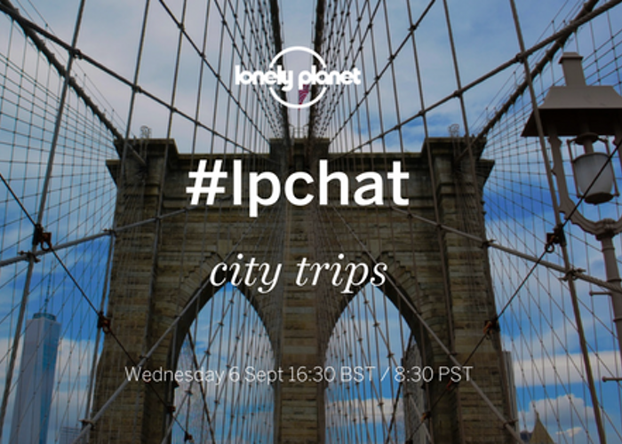 Join our city trips #LPchat on Twitter!
