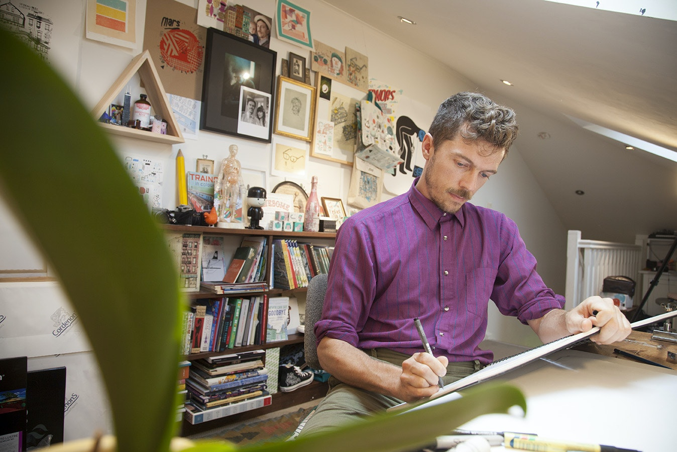 In the studio with James Gulliver Hancock, illustrator for How Airports Work