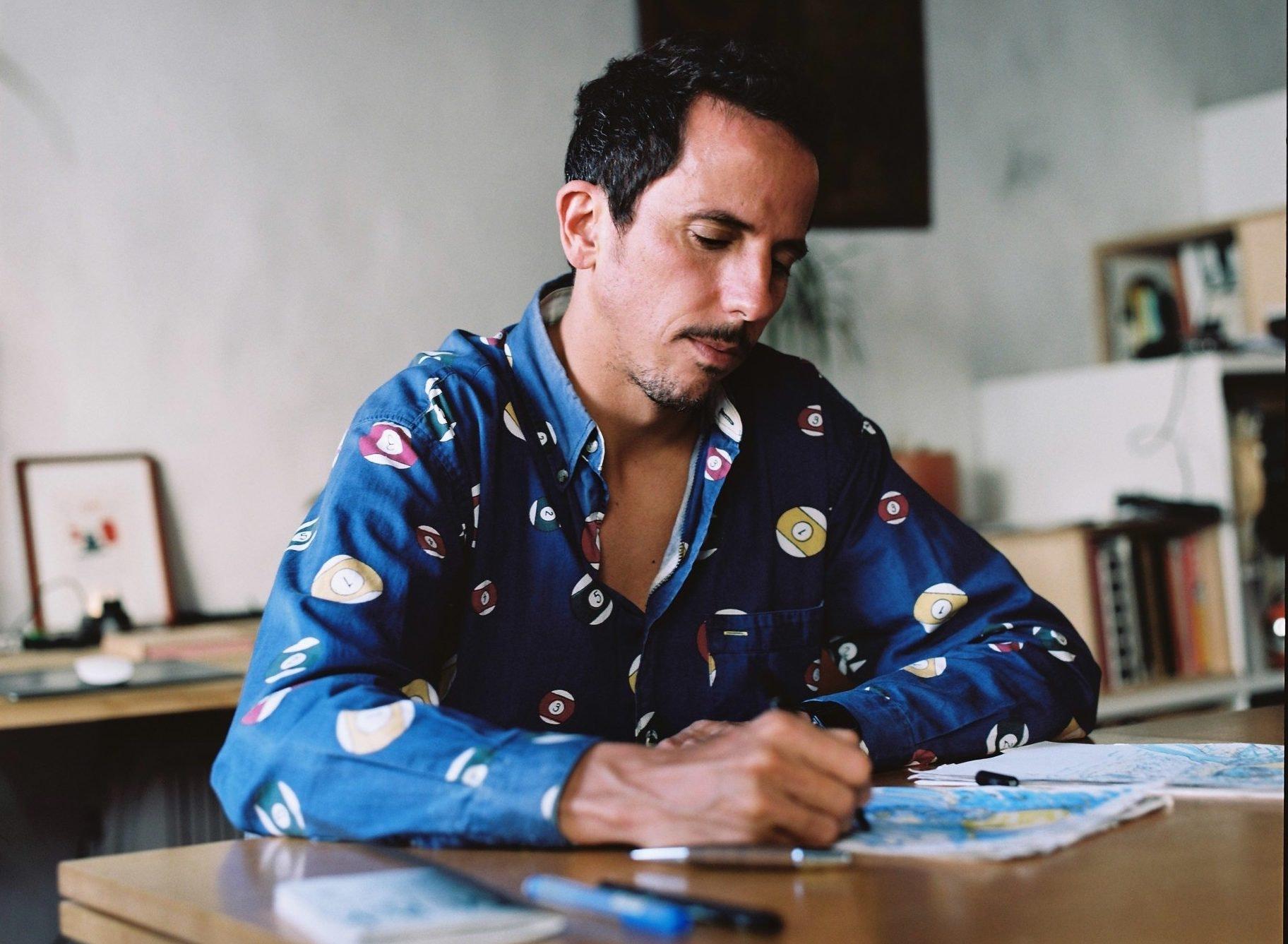 In the studio with Ferran Capo, illustrator for Lonely Planet Magazine