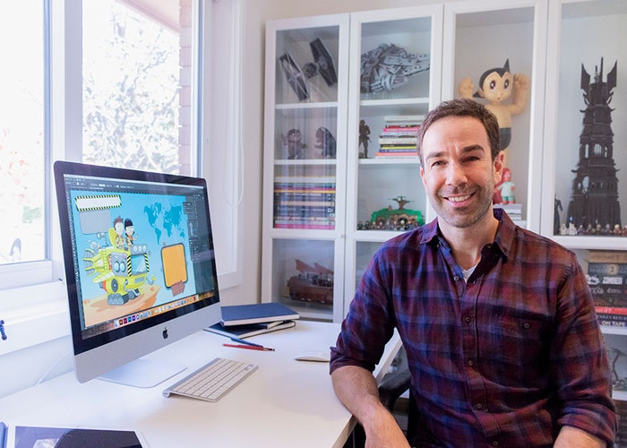 In the studio with Mike Jacobsen, illustrator for The Daredevil's Guide to Dangerous Places