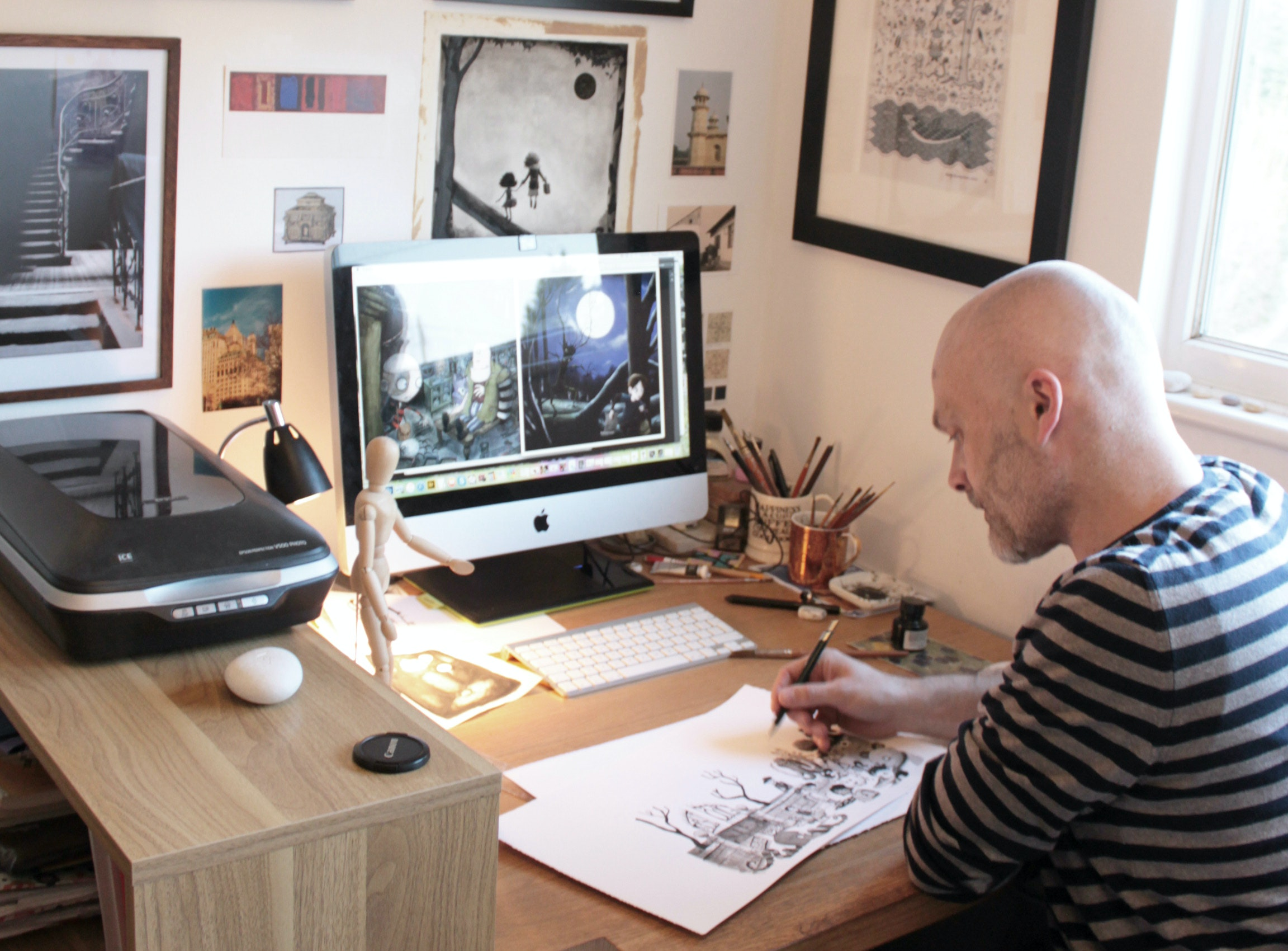 In the studio with Peter Williamson, illustrator of Wild Things