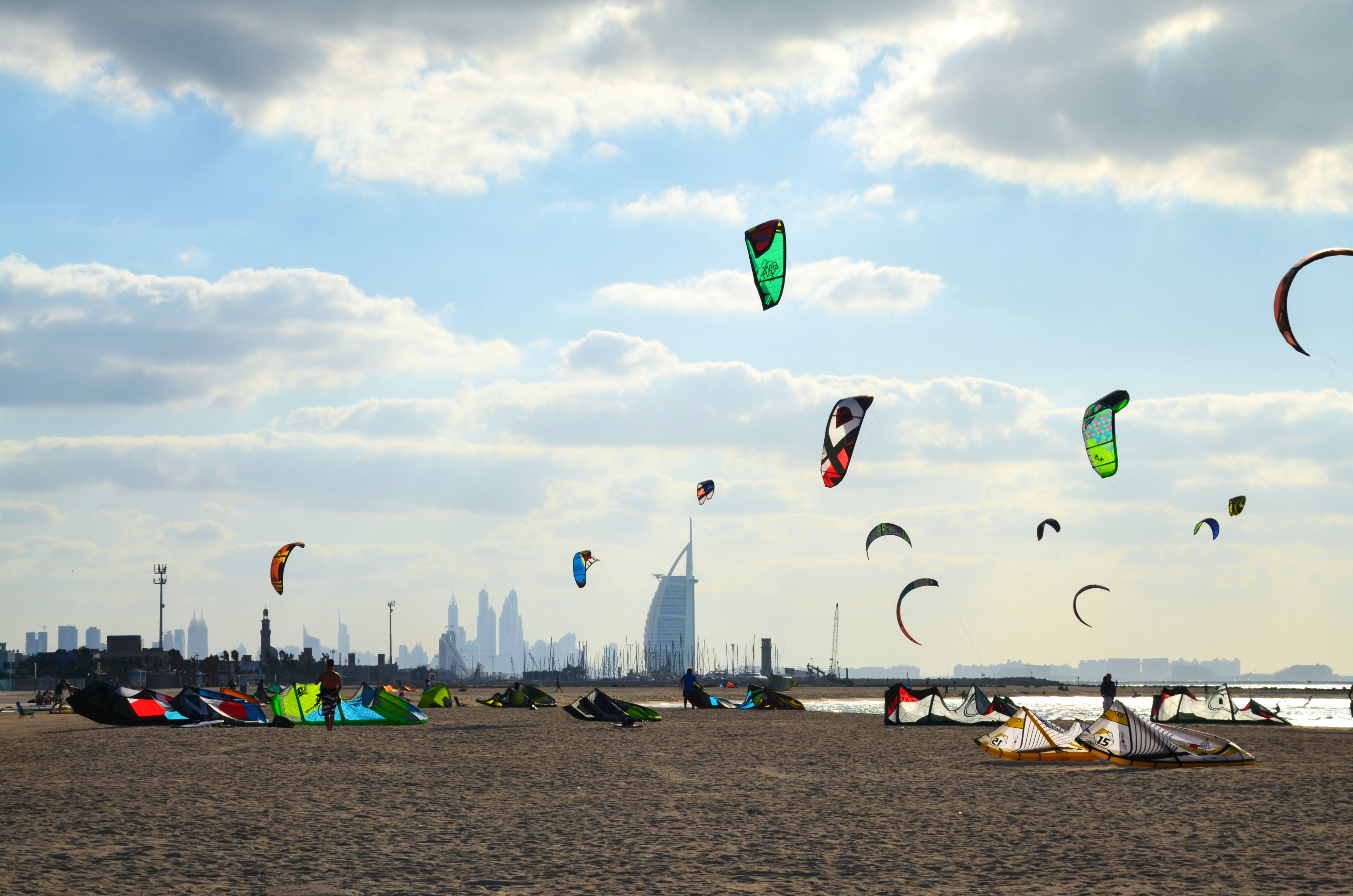 kite beach in dubai united arab emirates   lonely pla