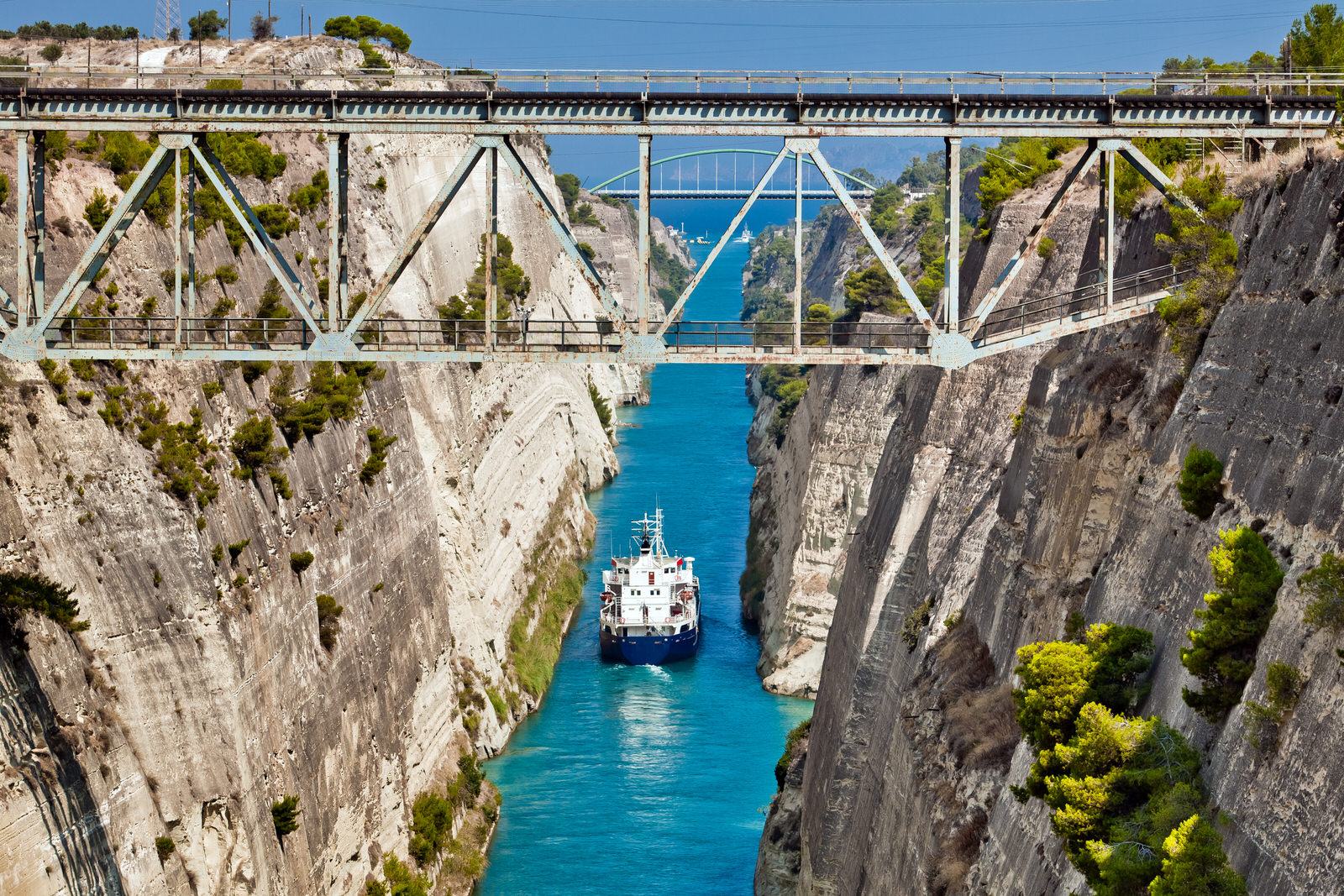 Corinth Canal in Corinthia Lonely Planet