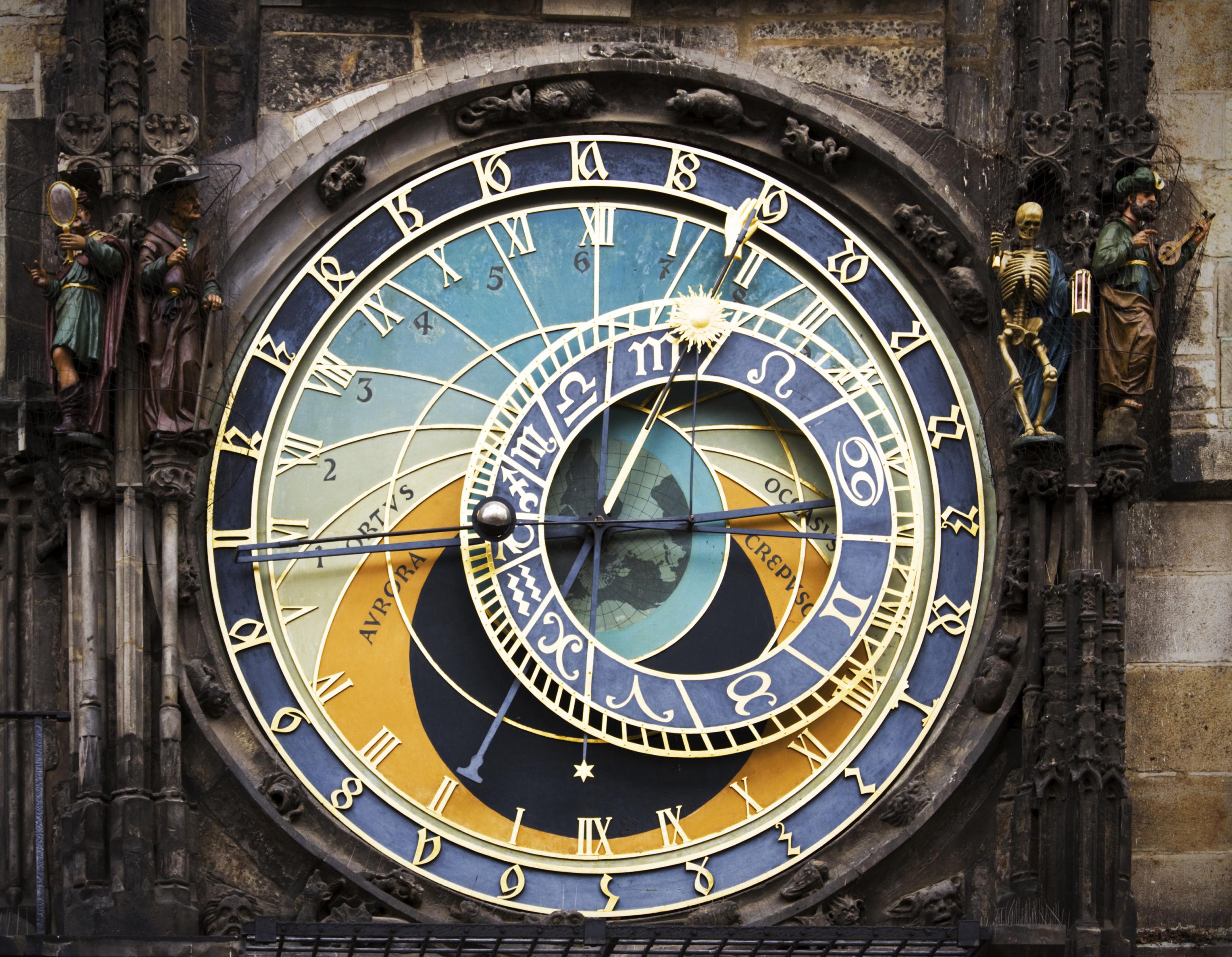 Premium Wooden Prague Astronomical Clock