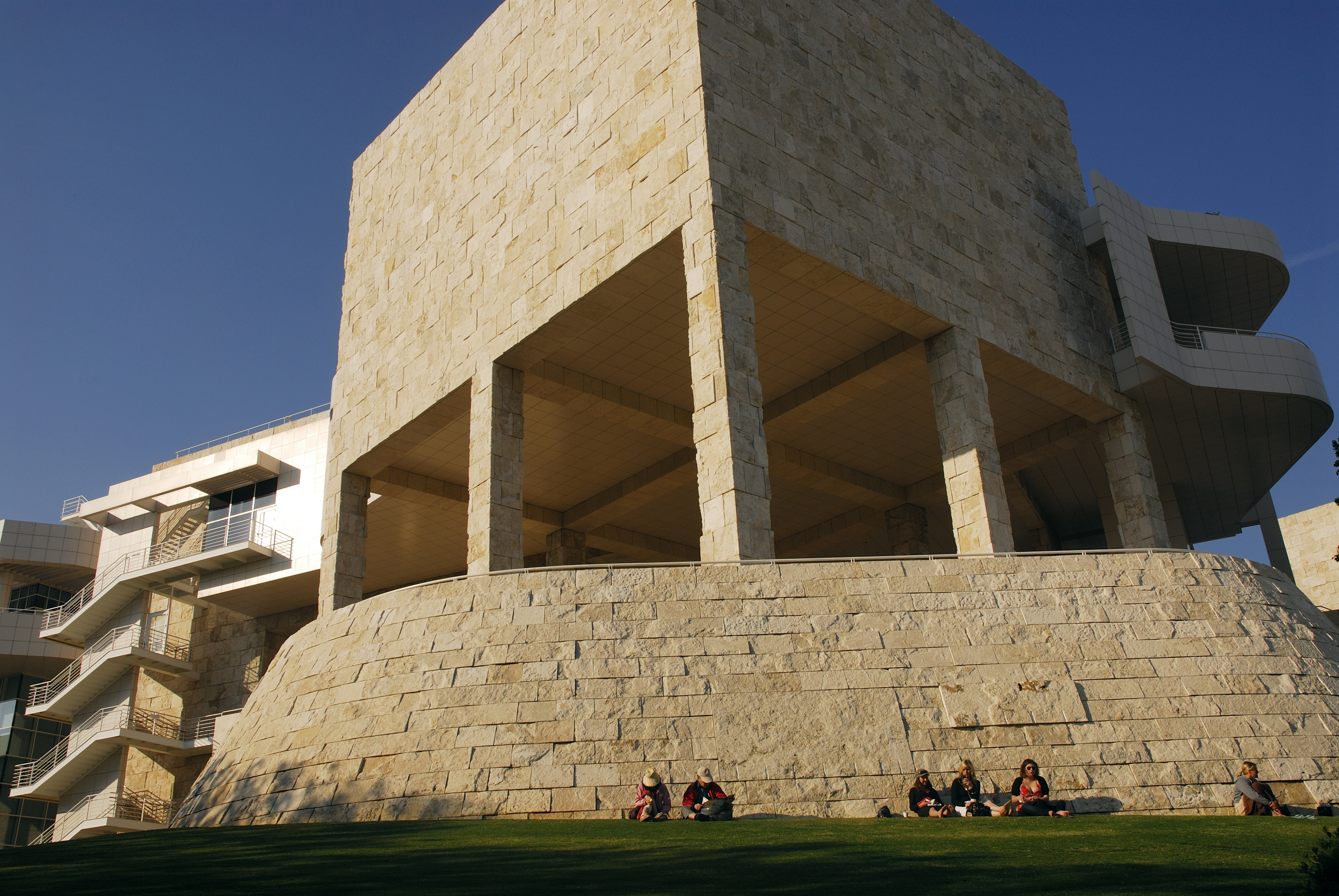 Getty Center Art Museum in Los Angeles California US