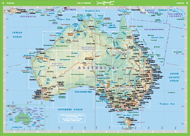 Australia Atlas Map.Mapping The World With Lonely Planet Kids Lonely Planet S Travel Blog