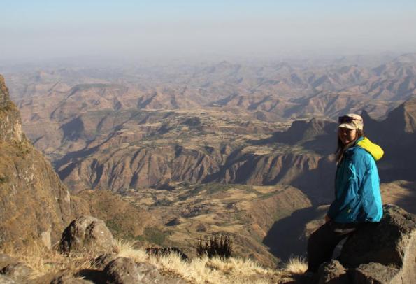 A taste of Ethiopia: Nellie enjoying the view