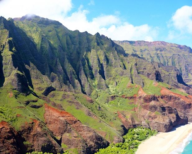 The Cathedrals on the Na Pali Coast, Kauaʻi