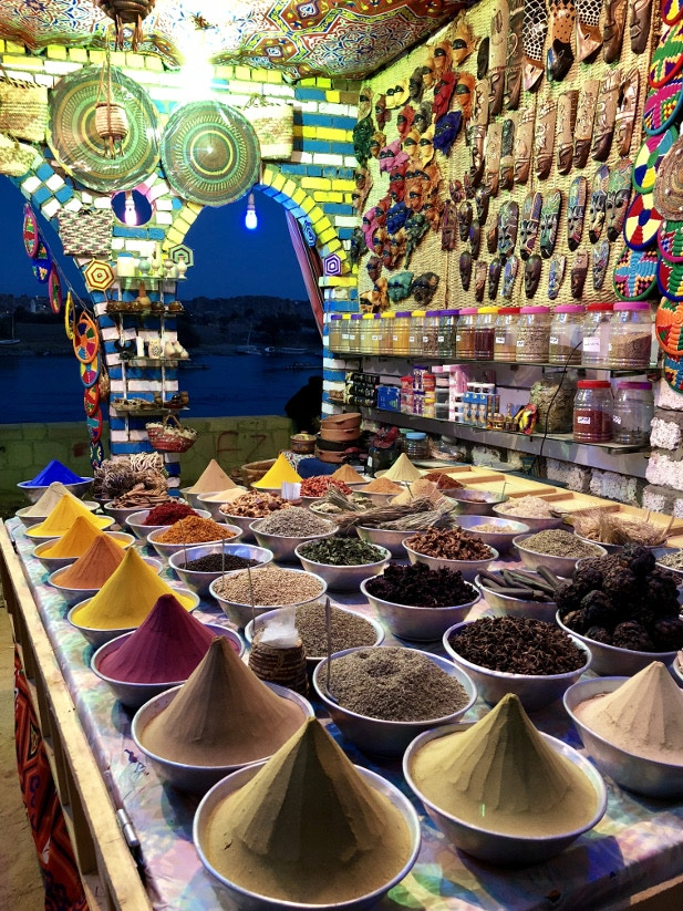 The spice markets of the Nubian villages