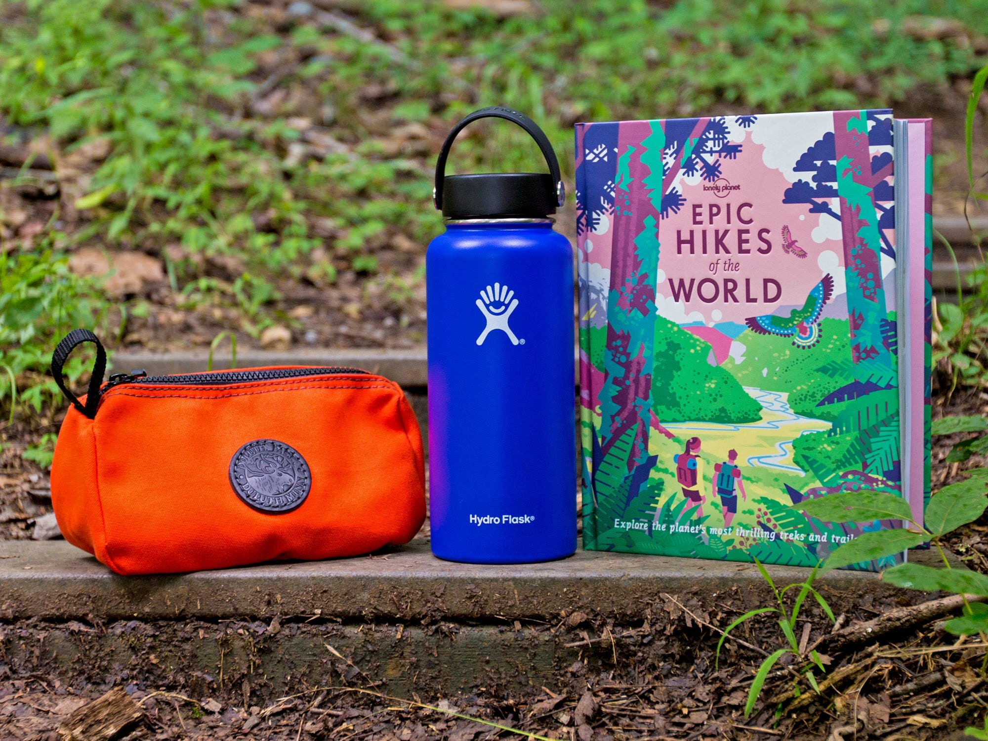 Third prize: a Duluth Grab-N-Go bag, Hydro Flask and Lonely Planet's Epic Hikes of the World