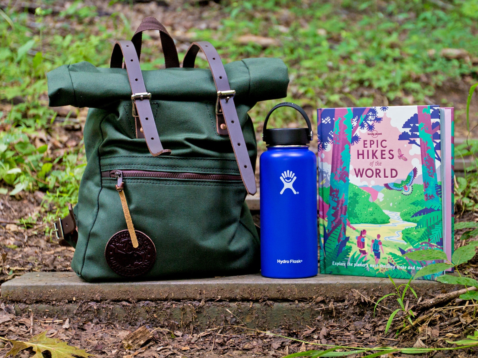 First prize: a Duluth Roll-Top Scout bag, Hydro Flask and Lonely Planet's Epic Hikes of the World