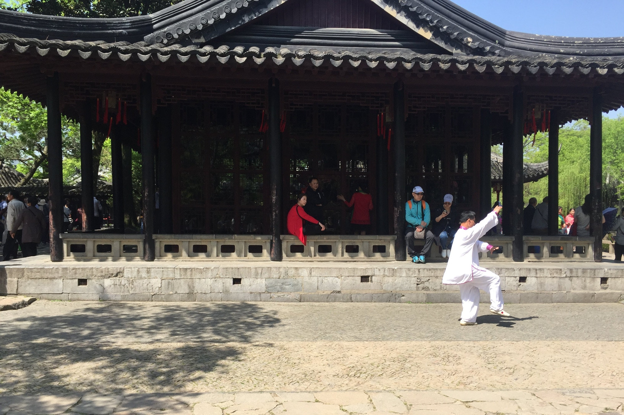 A tai chi master demonstrates the forms in the Humble Administrator's Garden © Megan Eaves