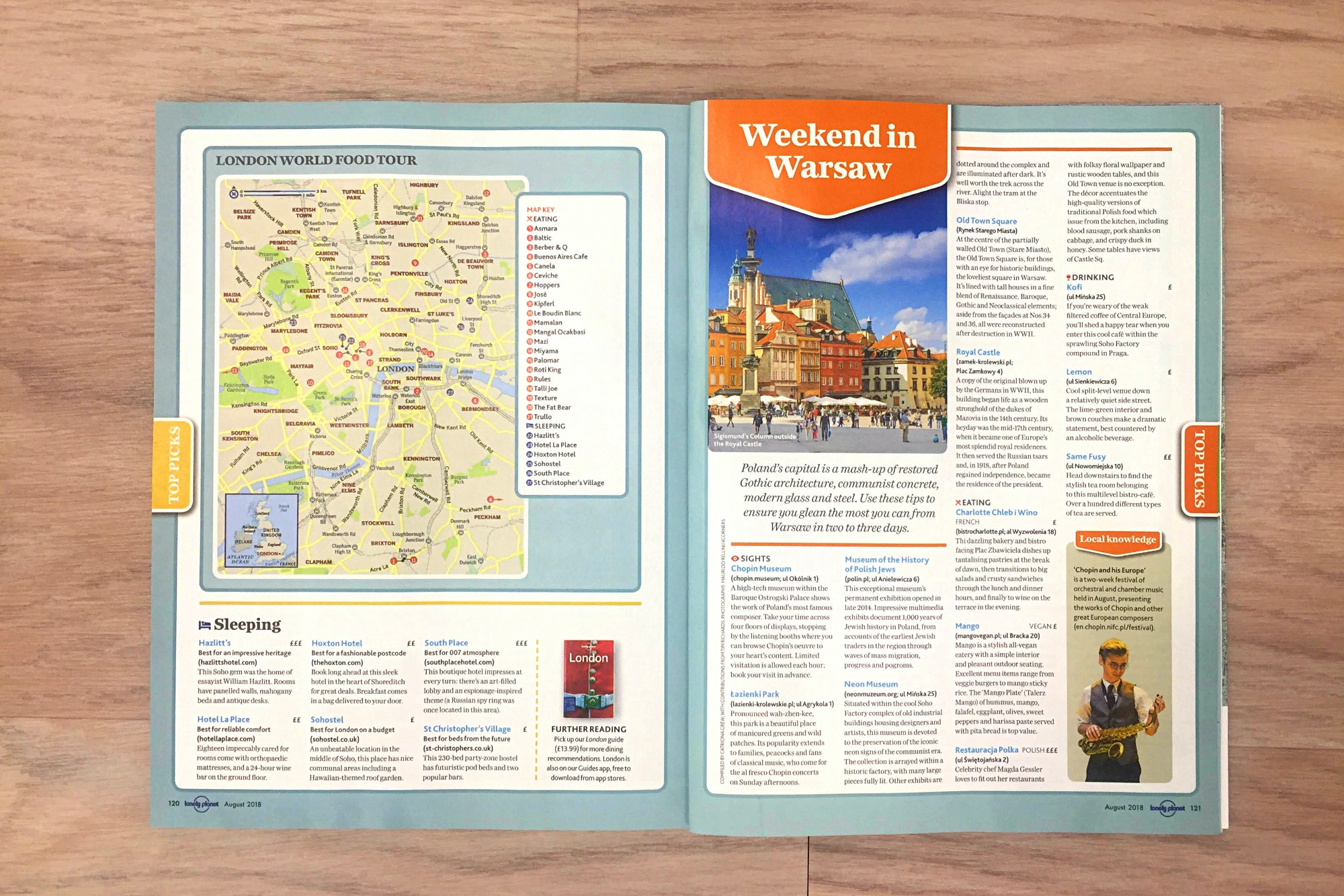 FREE mini-guides: London, Warsaw, Charleston and Norway's